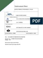 Endorsement Sheet for Pressure Transmitter (Etp )