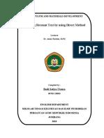 Paper of Curriculum Material Development