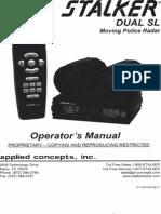 Stalker Dual SL Radar Operators Manual