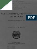 Weir Experiments