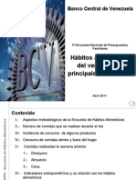 HAbitos Alimenticios Del Vnzolano BCV