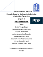 Rate Reactions
