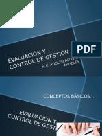 Evaluación y Control de Gestión