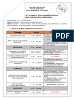 1º Encuentro de Psicología de La Universidad Metropolitana