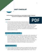 EDUC-6135 Project Checklist
