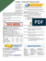 newsletter week of 090215