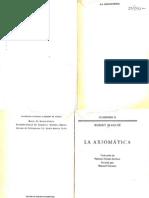 Axiomatic A