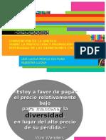 Presentación juliovega - CONVENCION SOBRE LA PROTECCION Y PROMOCION DE LA DIVERSIDAD DE LAS EXPRESIONES CULTURALES