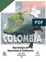 Memoria Explicativa. Mapa Geologico Del Departamento de Cundinamarca 2002