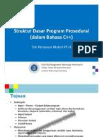 KU1072 W003a StrukturDasarProsedural CPP