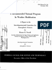 A Recommended National Program in Weather Modification - Interdepartmental Committee for Atmospheric Sciences - NASA 1966