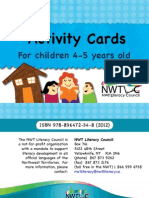 Activity Cards 4 to 5 Years