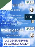 1.-Generalidades de La Investigacion
