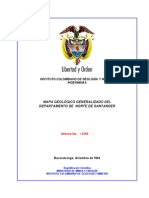 Memoria Explicativa. Mapa Geologico Del Departamento Del Norte de Santander. 2001