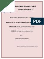 Análisis de La Promoción Turística de Huatulco
