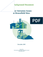 Background Document on Vapor Intrusion Issues at Brownfield Sites