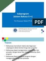 KU1072 W006a Subprogram CPP
