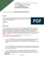 Engineering Department Procedure