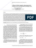 The evaluation of the efficiency of listed companies, using nonparametric methods