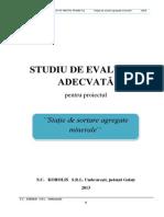 STUDIUDEEVALUAREADECVATA-Statiesortareagregateminerale