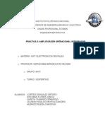 Practica 3 Amplificador Operacional Integrador