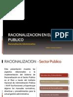 Racionalizacion en El Sector Publico