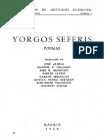 Seferis, Poemas. Estudios Clásicos (1968)