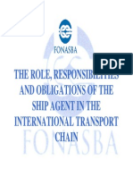 obligation of a ship agent
