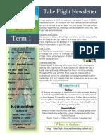 T1 2015 Newsletter Take Flight