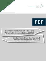 JKU ÖH-Doktorat SOWI/KUWI Broschüre 2015 -