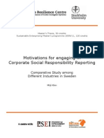 Motivations for Engaging in CSR Reporting