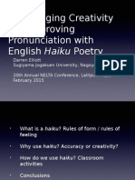 Encouraging Creativity and Improving Pronunciation With English Haiku Poetry