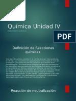 Química Unidad IV