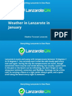 Check the Weather in Lanzarote Before you Travel