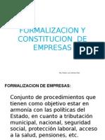 Formalizacion de Empresas.