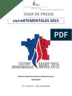 Dossier de Presse Departementales Aveyron 2015