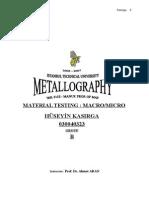 Metallography Experiment Report