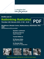 Rethinking Radicalisation - Flyer