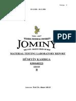 Jominy Experiment Report