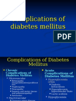Complications of Diabetes Mellitus-update