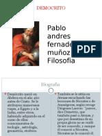 Pablo Andres Fernadez Muñoz Filosofia