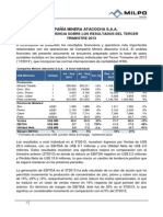 Mineramilpo Informe de Gerencia Atacocha 3t 2013