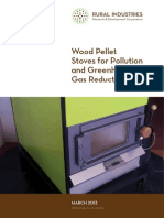 Wood pellet stoves for pollution and greenhouse gas reduction.