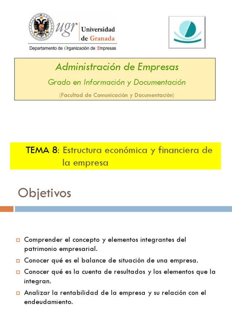 Estructura Económica Y Financiera De La Empresa