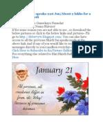 Shri Shirdi Sai Speaks for 20th and 21st Jan
