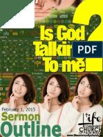Is God Talking to Me - Outline