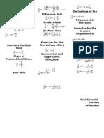 Formulas in Calculus