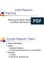 New Crystal Reports Training - 2006-10-13