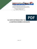 El Costo de Produccion y Su Lugar en La Gestion Economica