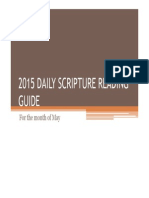 2015 Daily Scripture Reading Guide (May)